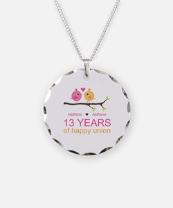 13th Anniversary Personalize Necklace