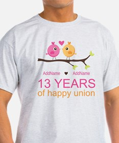13th Anniversary Personalized T-Shirt