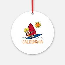 Windsurf California Ornament (Round)