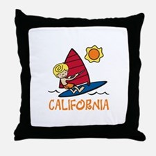 Windsurf California Throw Pillow