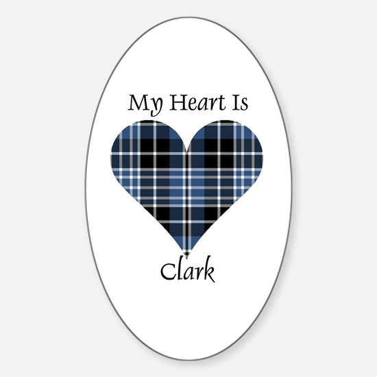 Heart - Clark Sticker (Oval)