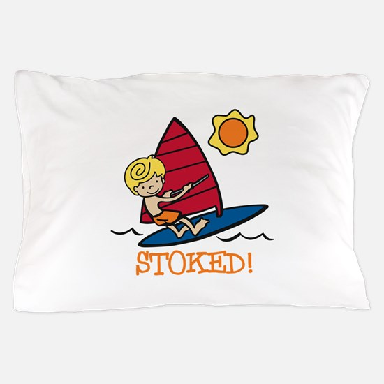 Windsurf Stoked Pillow Case