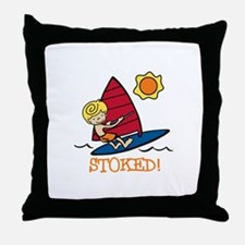 Windsurf Stoked Throw Pillow