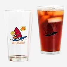 Windsurf Stoked Drinking Glass