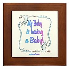 Baby Having Baby Framed Tile