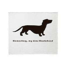 Elementary, my dear Dachshund Throw Blanket