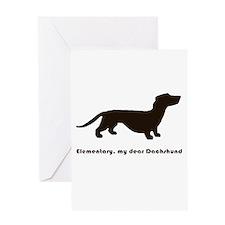 Elementary, My Dear Dachshund Greeting Cards