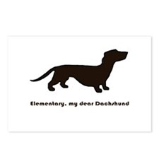 Elementary, my dear Dachshund Postcards (Package o