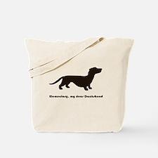 Elementary, my dear Dachshund Tote Bag