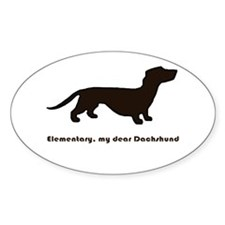 Elementary, my dear Dachshund Decal