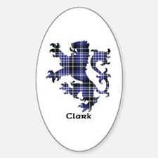 Lion - Clark Sticker (Oval)