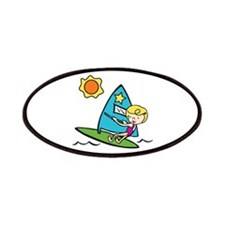 Windsurfing Girl Patches