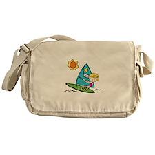 Windsurfing Girl Messenger Bag
