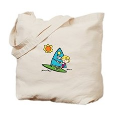 Windsurfing Girl Tote Bag