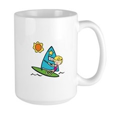 Windsurfing Girl Mugs