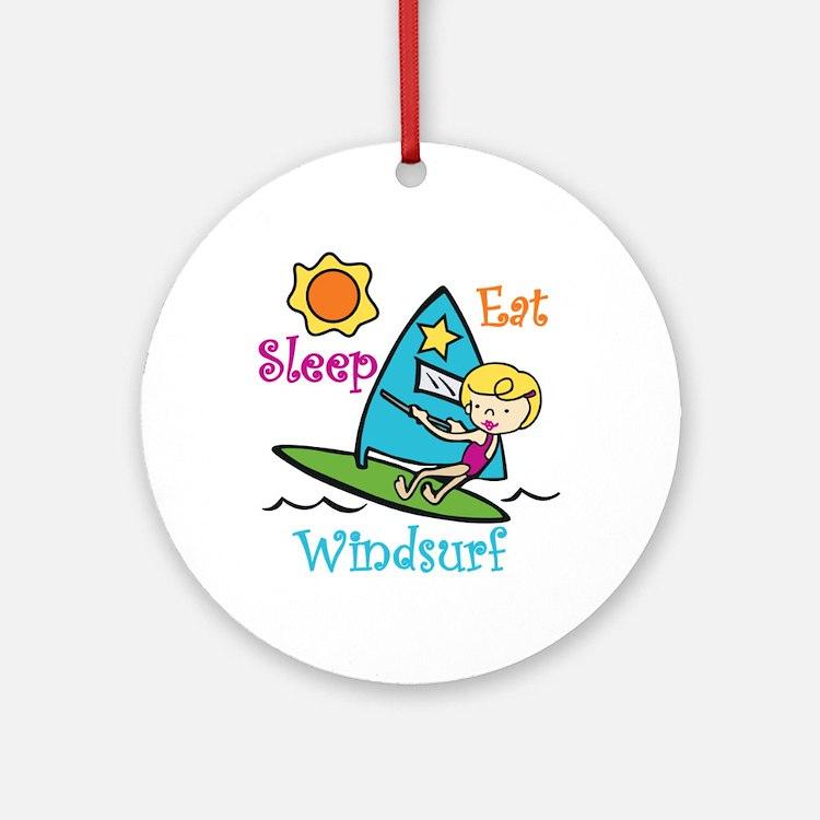 Eat Sleep Windsurf Ornament (Round)