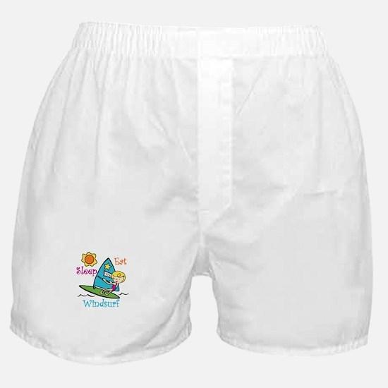 Eat Sleep Windsurf Boxer Shorts