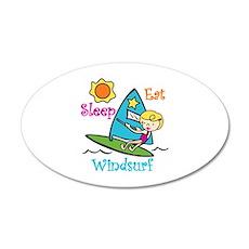 Eat Sleep Windsurf Wall Decal