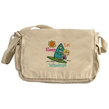 Eat Sleep Windsurf Messenger Bag