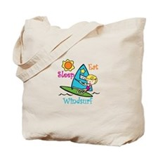 Eat Sleep Windsurf Tote Bag