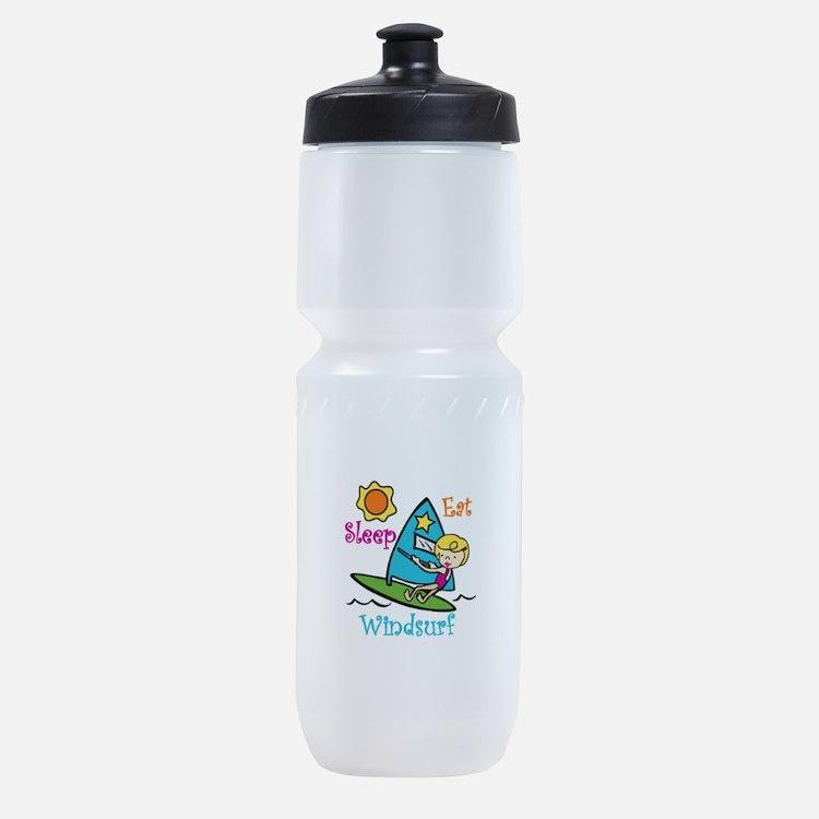 Eat Sleep Windsurf Sports Bottle