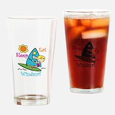 Eat Sleep Windsurf Drinking Glass