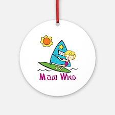 Maui Wind Ornament (Round)