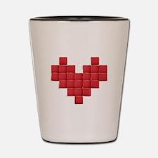 Pixel Heart Shot Glass