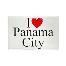"""I Love Panama City"" Rectangle Magnet"