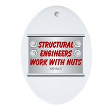 Structural Engineers Oval Ornament