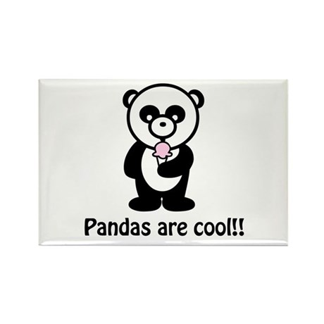 Pandas are Cool Rectangle Magnet (100 pack)