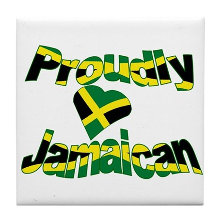 Proud to be Jamaican Tile Coaster