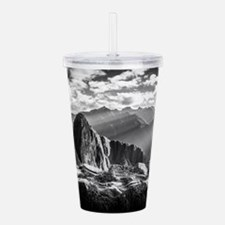 Cute B w Acrylic Double-wall Tumbler