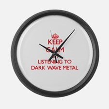 Darkness radio Large Wall Clock