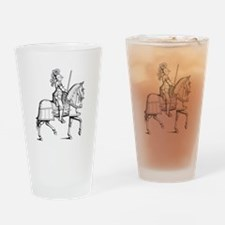 Knight in Armor Drinking Glass