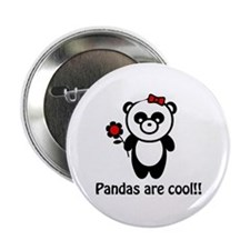 """Pandas are Cool 2.25"""" Button (100 pack)"""