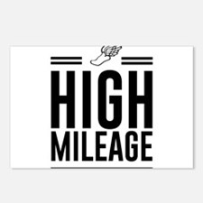 High mileage running Postcards (Package of 8)