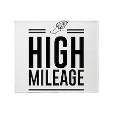High mileage running Throw Blanket