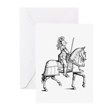 Knight in Armor Greeting Cards