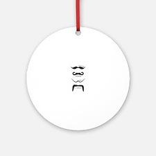 Mustache Styles Ornament (Round)