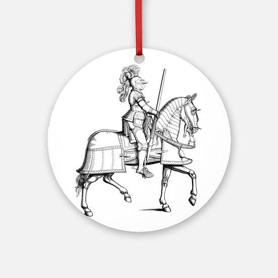 Knight in Armor Ornament (Round)