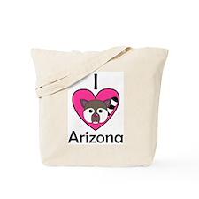 I Love Arizona Tote Bag