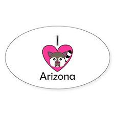 I Love Arizona Oval Decal