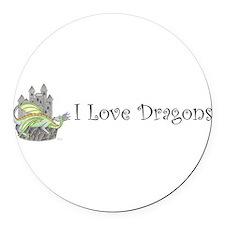 Unique Dragon fantasy Round Car Magnet