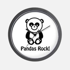 Pandas Rock Wall Clock