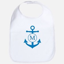 Anchor, Nautical Monogram Bib