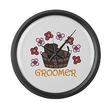 Groomer Large Wall Clock