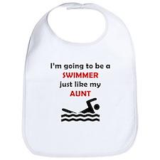 Swimmer Like My Aunt Bib