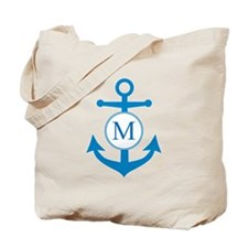 Anchor, Nautical Monogram Tote Bag