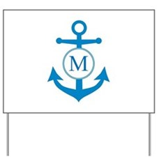 Anchor, Nautical Monogram Yard Sign